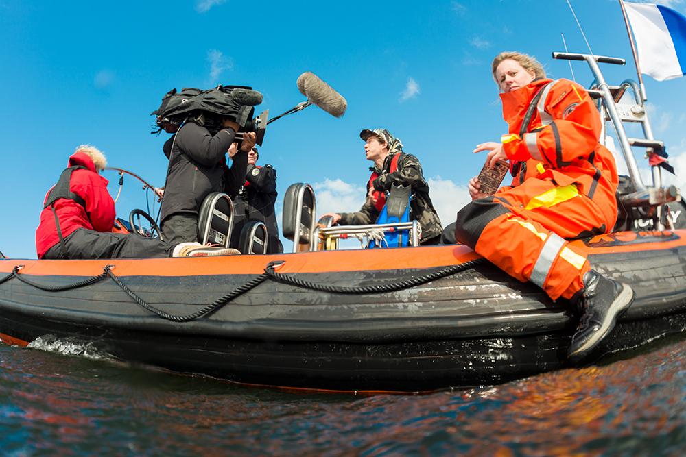 klokhuis opnames op rib - In de Noordzee