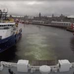 Met de veerboot de Noordzee op