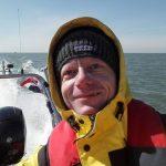 Melvin Redeker op de Noordzee met nieuwe boot