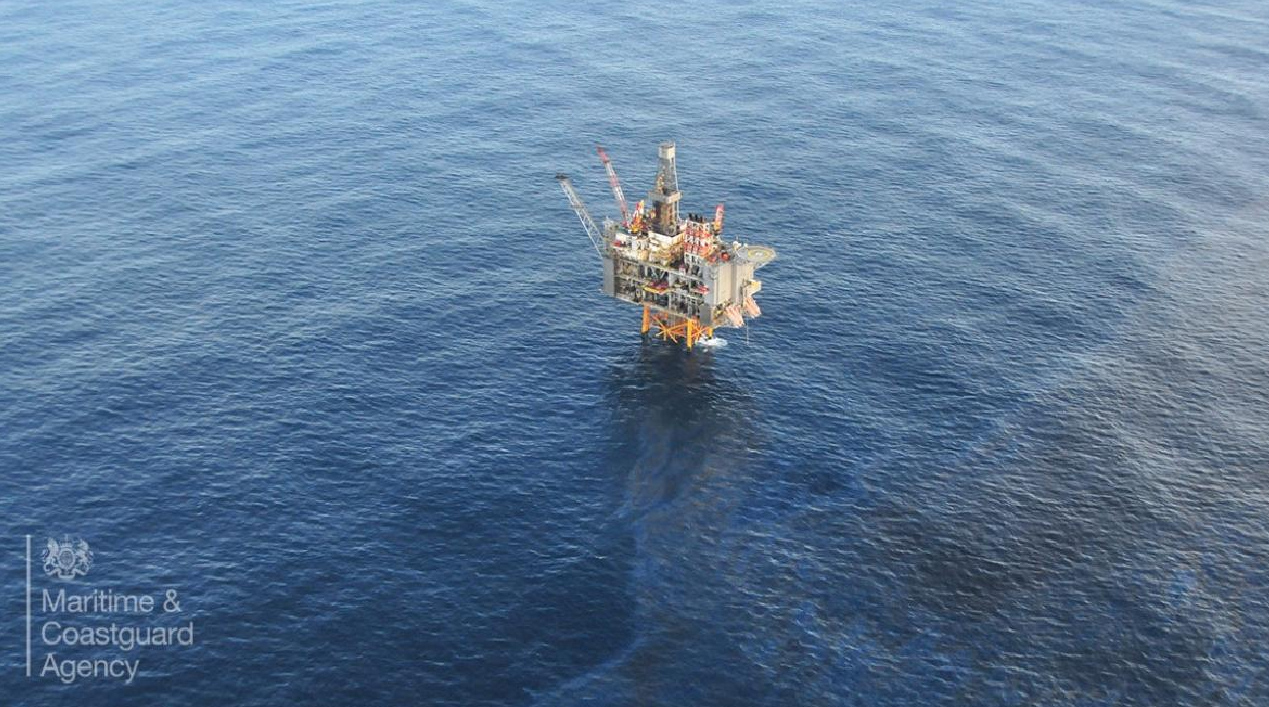 olielek in de Noordzee-bp