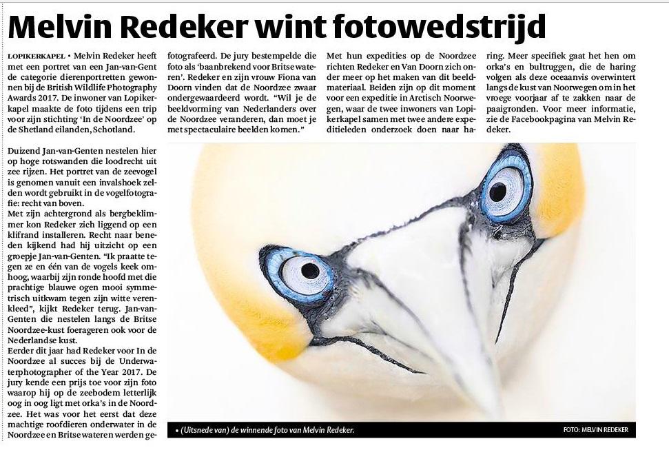 Het Kontakt: Redeker wint fotowedstrijd